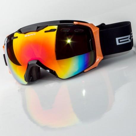 Bear double black orange síszemüveg